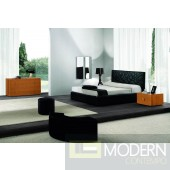 SMA Loto Bed - Black Eco-Leather - Made in italy