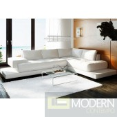 Divani Casa 2226 Contemporary White Leather Sectional Sofa