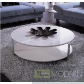 Modrest 5015C - Modern White Coffee Table