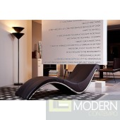 Divani Casa Essen Modern Brown Leather Lounge Chaise