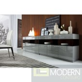 Modrest Daytona Modern Grey High Gloss Buffet