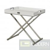 A&X AK831-50 Modern White Crocodile Tray Table