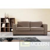 Divani Casa Dual Modern Brown Leather Sofa Bed