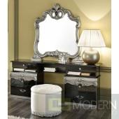 Barocco - Modern Glossy Black Vanity Dresser