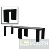 Modrest Morph - Modern Ultra-Compact Extendable Black Dining Table