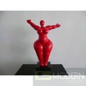 Modrest SZ0034 - Modern Red Voluptuous A Sculpture
