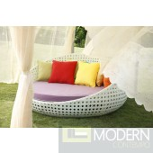 Outdoor Round Day Bed With Optional Cushion