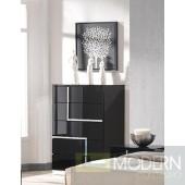 Modrest Moda Contemporary Black Bedroom 5-Drawer Chest