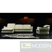 Divani Casa Panda Sectional Sofa & Chair