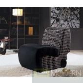 Divani Casa Rubi Fabric Lounge Chair