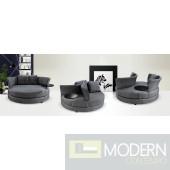 Divani Casa Aria - Adjustable Circular Fabric Lounge Seat