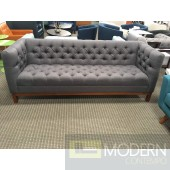 PANACHE TUFTED FABRIC SOFA Grey