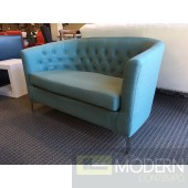 Prospect Loveseat Teal Blue