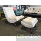 Ramp chair & ottoman beige