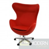 Inner Office Chair in Leather, Red