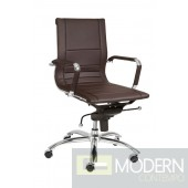 OWEN LOW BACK OFFICE CHAIR BROWN
