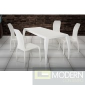 Modrest Isabel - Modern White Expandable Table