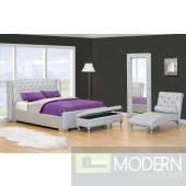 Imperial Platform Bed with Crystals