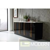 Modern Da Vittorio Marble & Rosegold Buffet