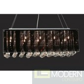 Modrest KR211 Modern Black and Crystal Ceiling Light