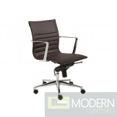 KYLER LOW BACK OFFICE CHAIR BROWN