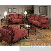 2pc Formal Traditional Red Love Seat/Sofa set  MCGSL2060. MADE IN USA Free 24 to 72 hours inside delivery in DMV Area