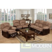 2PC Two-Tone Saddle Loveseat and sofa. MCGSL668456 Free 24 to 72 hours inside delivery in DMV Area