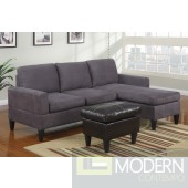 Grey Microfiber Reversible Sectional with chaise. MCGSL7285 Free 24 to 72 hours Inside delivery