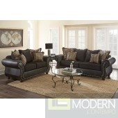 2pc Formal Traditional Nailhead Trim Show Wood Love Seat/Sofa set  MCGSL8100. MADE IN USA Free 24 to 72 hours inside delivery in DMV Area
