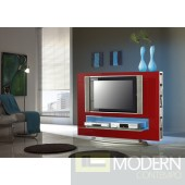 Modern TV Entertainment Center Media 85 Red