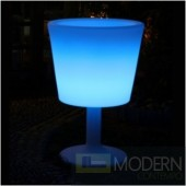 Illuminated Lighted Furniture LED Pedestal Ice Bucket with Color Change Remote