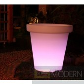 Illuminated lighted Rechargeable LED Flower Pot with Color Change Remote