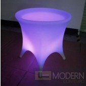 Illuminated lighted Rechargeable LED Side Table with Color Change Remote