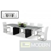 Modrest Lisbon - Extendable Glass Dining Table