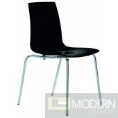 Modrest Lollipop - Modern Black Gloss Italian Dining Chair