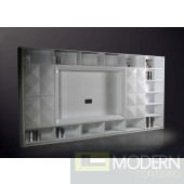 Versus Eva Ultra Modern White Entertainment Center