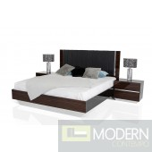 Modrest Luxor - Italian Modern Ebony Lacquer w/ Black Accents Bedroom Set