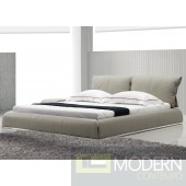 Yeolani Home Modern Contemporary Dark Grey Leather Platform Bed -FADE