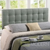 Lily King Fabric Headboard Grey
