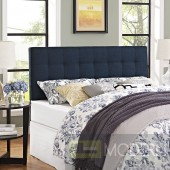 Lily King Fabric Headboard Navy