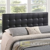 Lily King Vinyl Headboard Black