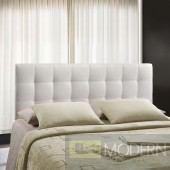 Lily King Vinyl Headboard White