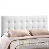 Emily King Vinyl Headboard white