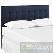 Emily Twin Fabric Headboard Navy