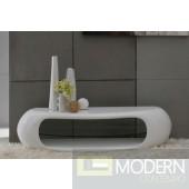 Modrest Swerve - Contemporary White TV Stand