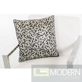 Modrest Mosaic Silver Throw Pillow