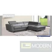 Nadia - Modern Genuine Italian Leather Sectional Sofa