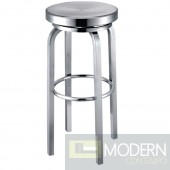 Navy Bar Stool, Aluminum