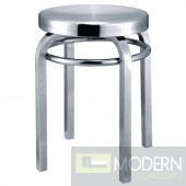 Navy Stool Chair, Aluminum