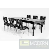 Modrest Nayri - Transitional Black High Gloss Dining Table